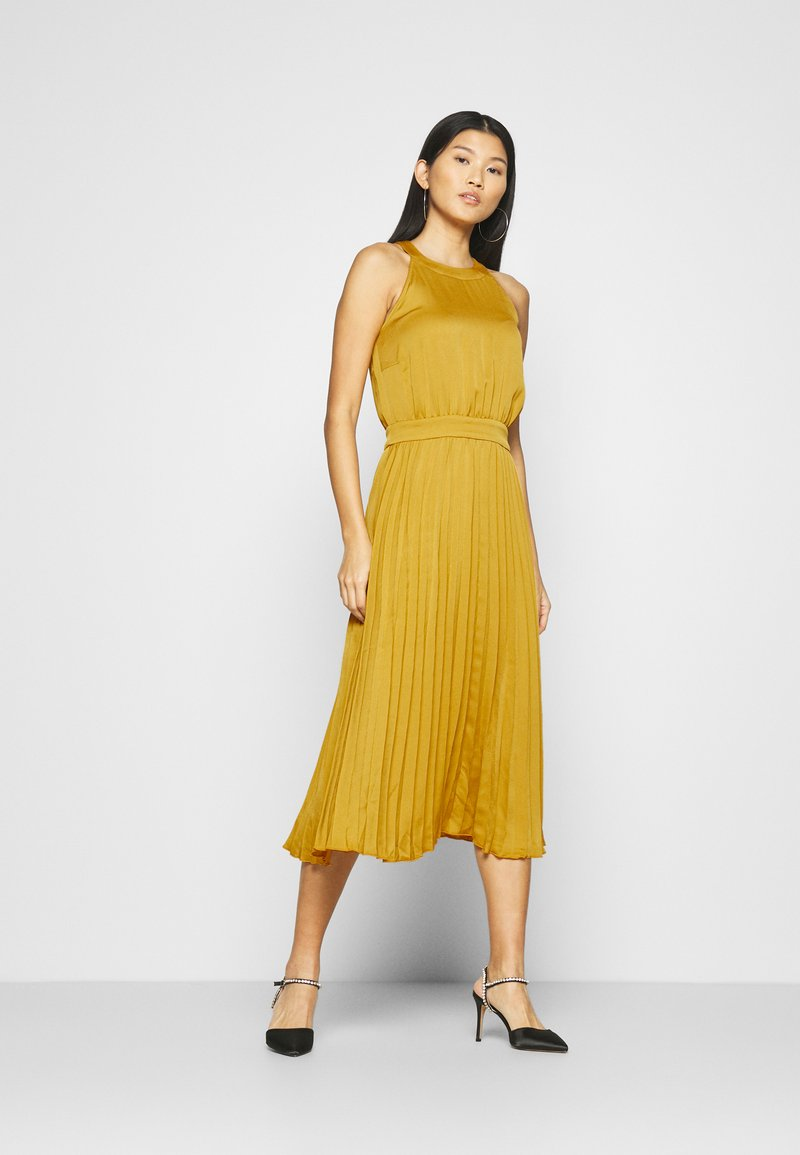 King Louie - DANNA PLISSE DRESS GINTY - Cocktail dress / Party dress - curry yellow