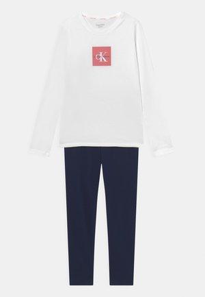 Pyjama set - navy iris/white
