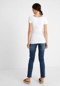Zalando Essentials Maternity - 2 PACK  - Long sleeved top - dark blue/off-white - 2