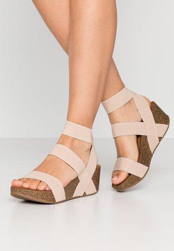 ZOEY - Platform sandals - nude