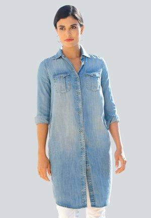 Denim dress - blue bleached