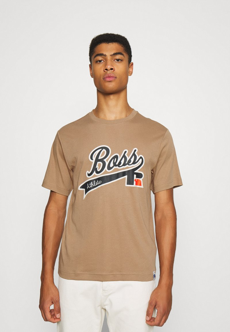BOSS - BOSS X RUSSELL ATHLETIC - T-Shirt print - medium beige