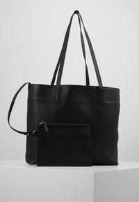 Zign - LEATHER - SHOPPING BAG / POUCH SET - Torba na zakupy - black - 6