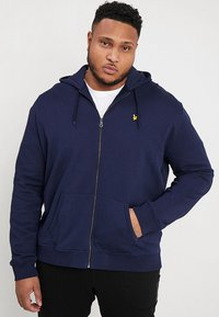 Lyle & Scott - ZIP THROUGH HOODIE - Huvtröja med dragkedja - navy - 0