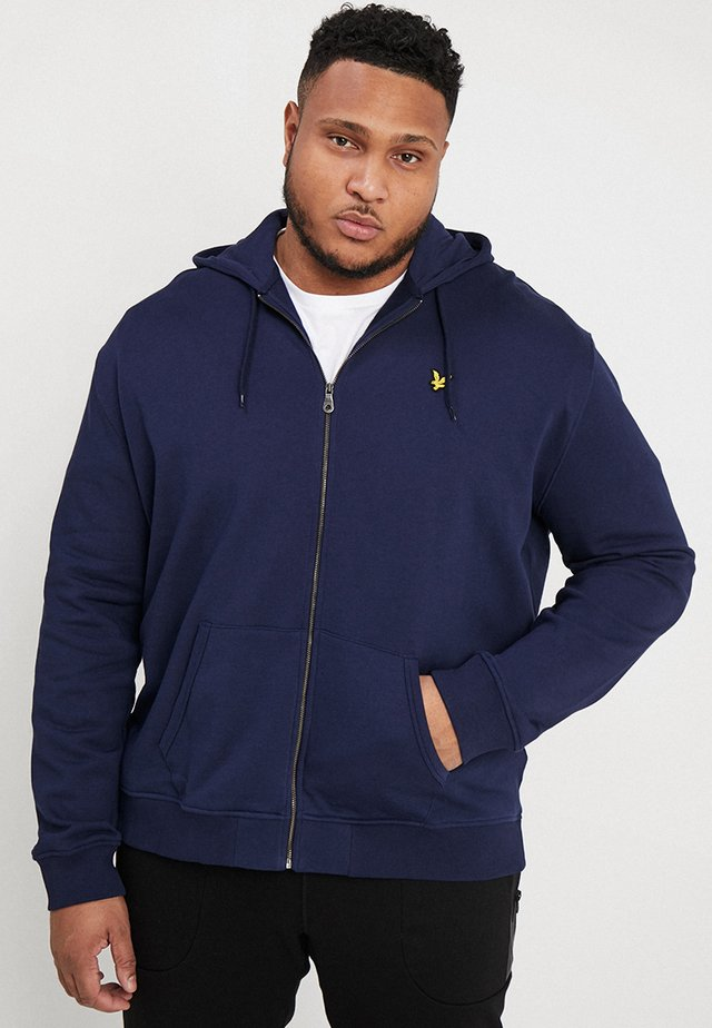 ZIP THROUGH HOODIE - Felpa aperta - navy