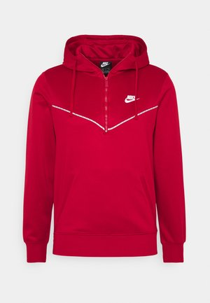 REPEAT HOODIE - Maglietta a manica lunga - gym red/white