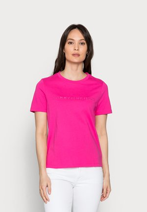 REGULAR TONAL HILFIGER - Print T-shirt - pink
