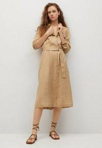 Mango - Shirt dress - beige - 1