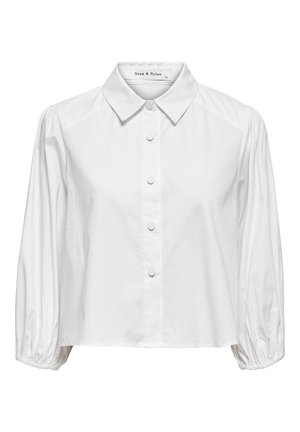 ONLY HEMD KURZ GESCHNITTENE - Button-down blouse - white