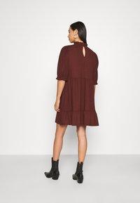 ONLY - ONLZILLE HIGHNECK DRESS - Shirt dress - bitter chocolate - 2