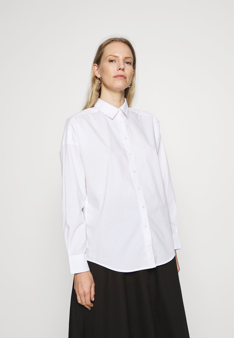GANT - OVERSIZED SOLID - Button-down blouse - white