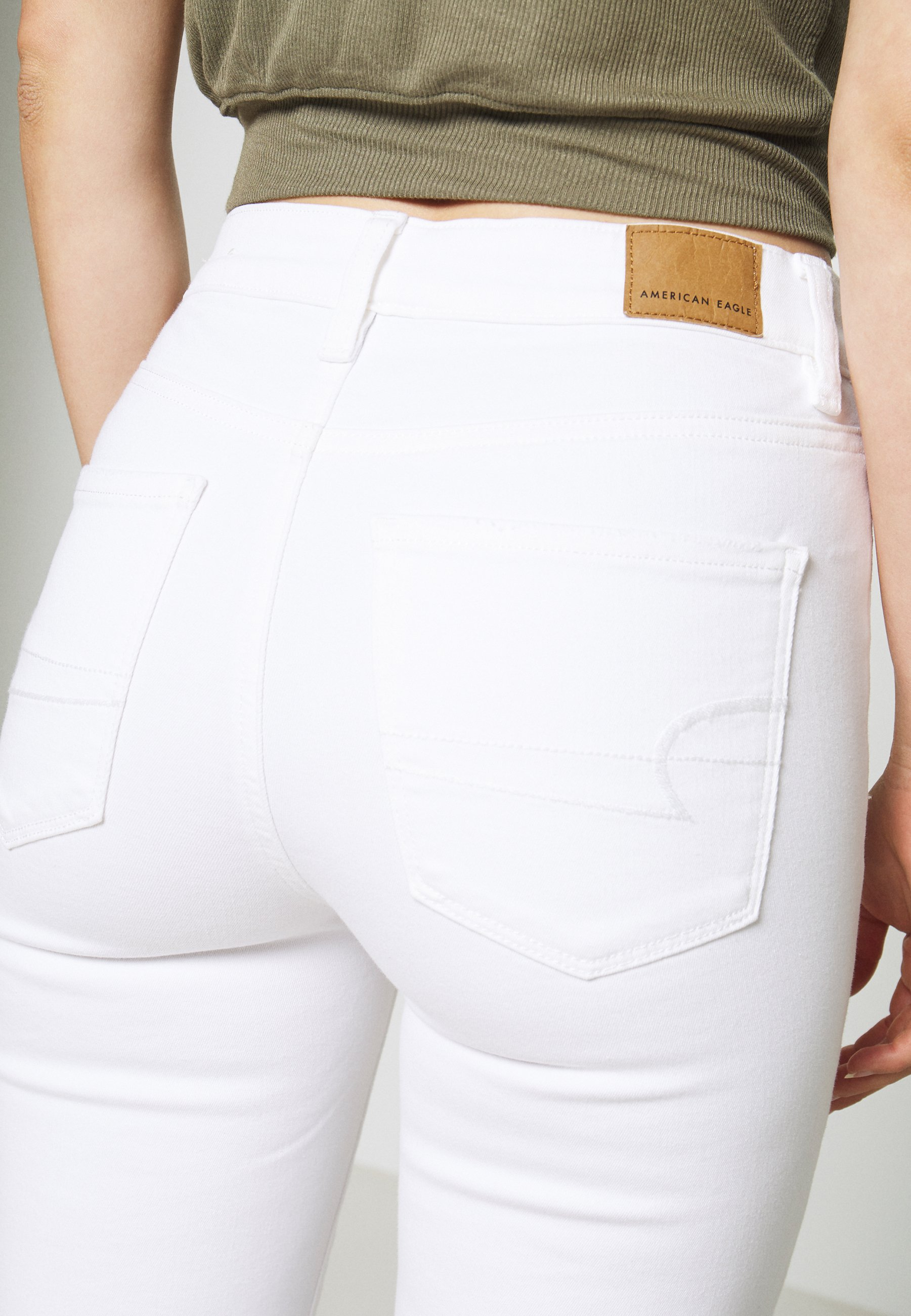 Nice Lowest Price Women's Clothing American Eagle SUPER RISE JEGGING CROP Jeggings bright white hA4Dts1fB Gp1pCDARj
