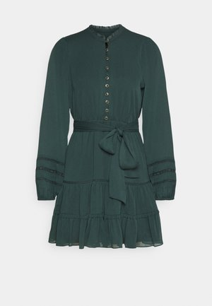 RHIANNA BLOUSON SLEEVE SKATER DRESS - Skjortekjole - forest green