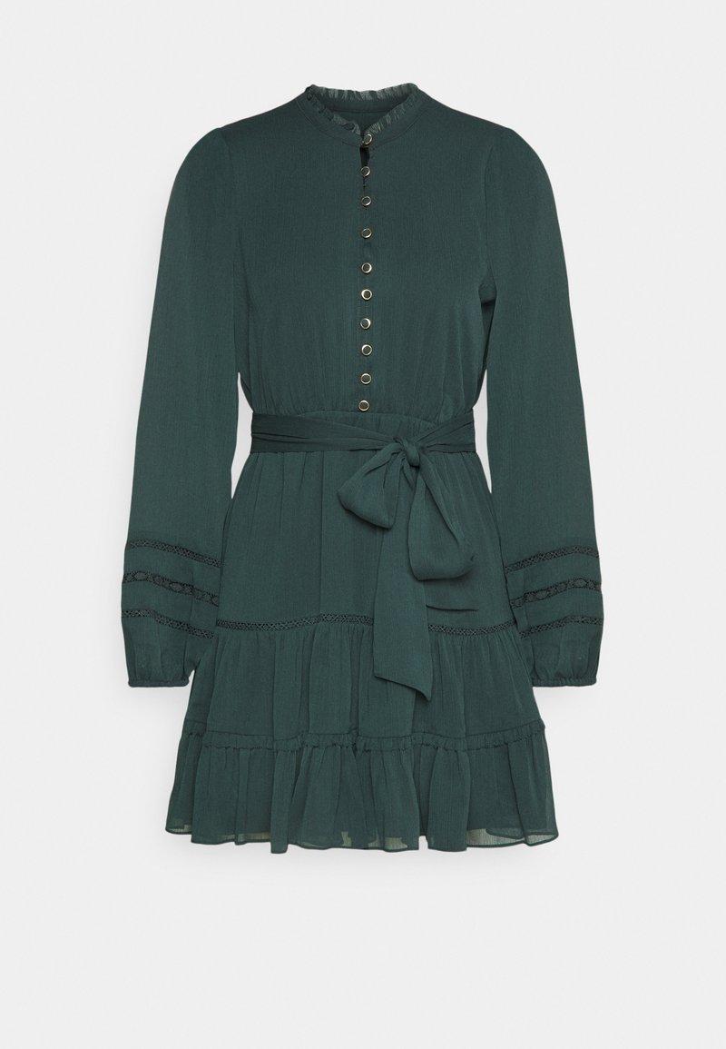 Forever New Petite - RHIANNA BLOUSON SLEEVE SKATER DRESS - Shirt dress - forest green