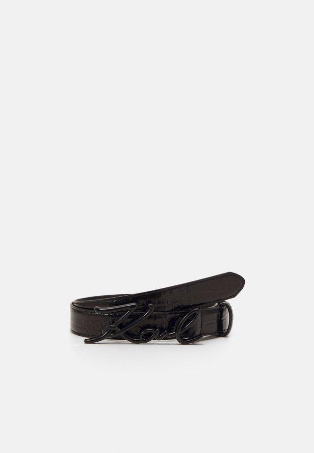 SIGNATURE CROCO BELT - Ceinture - black