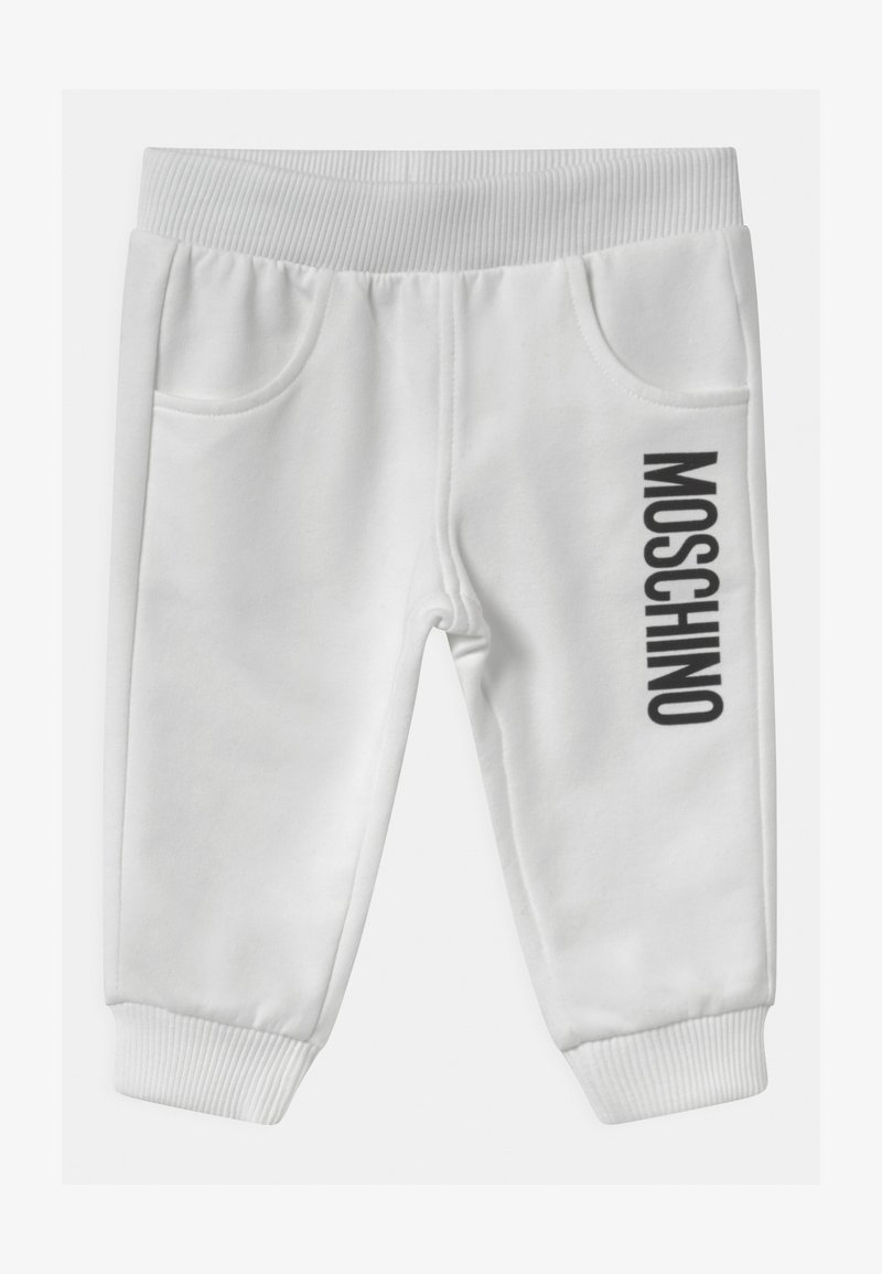 MOSCHINO - UNISEX - Kalhoty - optic white
