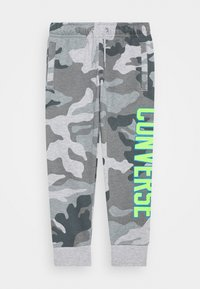 Converse - COLLEGIATE CAMO PANT - Tracksuit bottoms - dark grey heather - 0