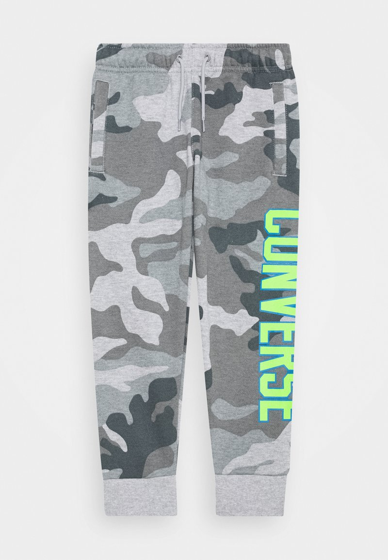 Converse - COLLEGIATE CAMO PANT - Tracksuit bottoms - dark grey heather