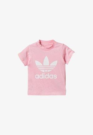 TREFOIL TEE - Triko spotiskem - pink/white