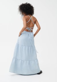 PULL&BEAR - Denim dress - light blue - 2