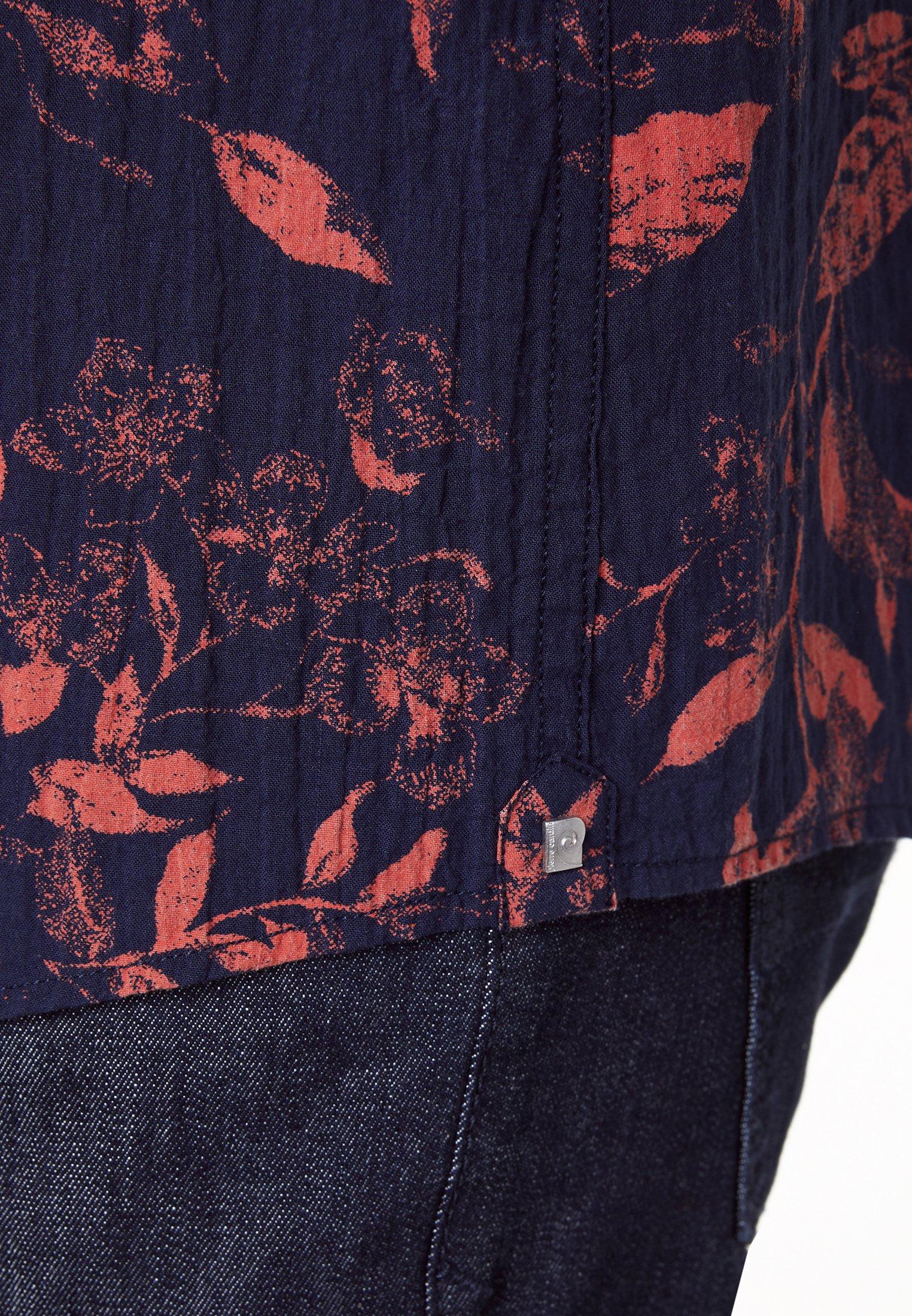 Pierre Cardin REGULAR FIT HEMD SEERSUCKER - Chemise - blau/rot