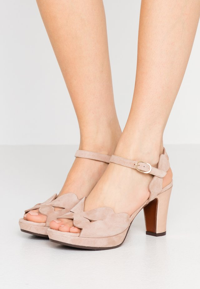 EDANA - High heeled sandals - peach/shaddai nude