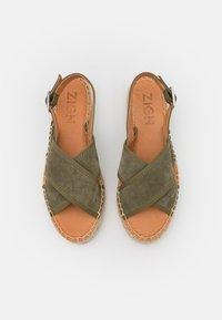 Zign - Platform sandals - khaki - 5