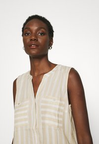 TOM TAILOR - BLOUSE STRIPED - Blouse - beige/offwhite - 3