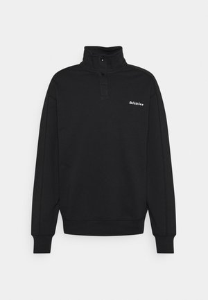 LORETTO HALF PLACKET - Sweatshirt - black