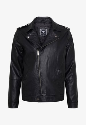 CONEYBLACK - Faux leather jacket - black