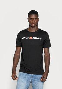 Jack & Jones - JJECORP LOGO CREW NECK  - Print T-shirt - black - 0