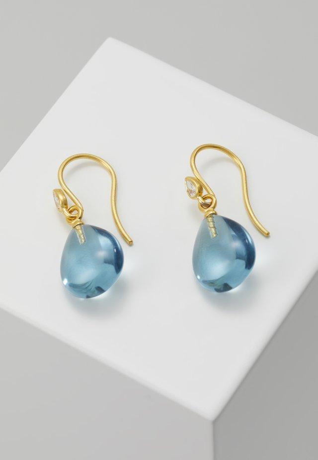 PRIMA BALLERINA EARRINGS - Pendientes - gold-coloured/ocean
