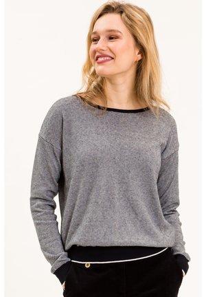 MIKAINA - Sweatshirt - blau-weiß gestreift