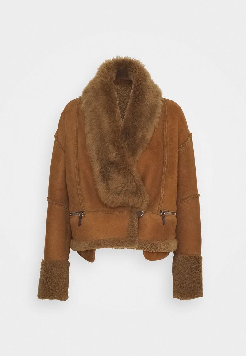 VSP - Leather jacket - tobacco
