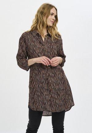 BPJALEA  - Shirt dress - brown- chalk/black dot stripes