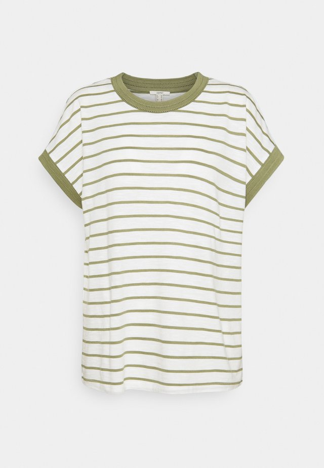 TEE POINTEL - T-shirts - light khaki
