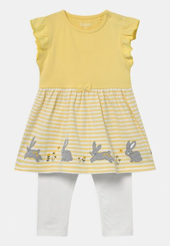 SET - Leggings - Trousers - yellow/white