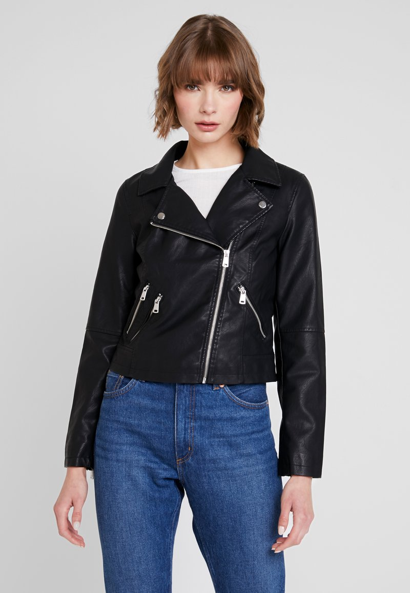 ONLY - ONYFILIPPA - Faux leather jacket - black