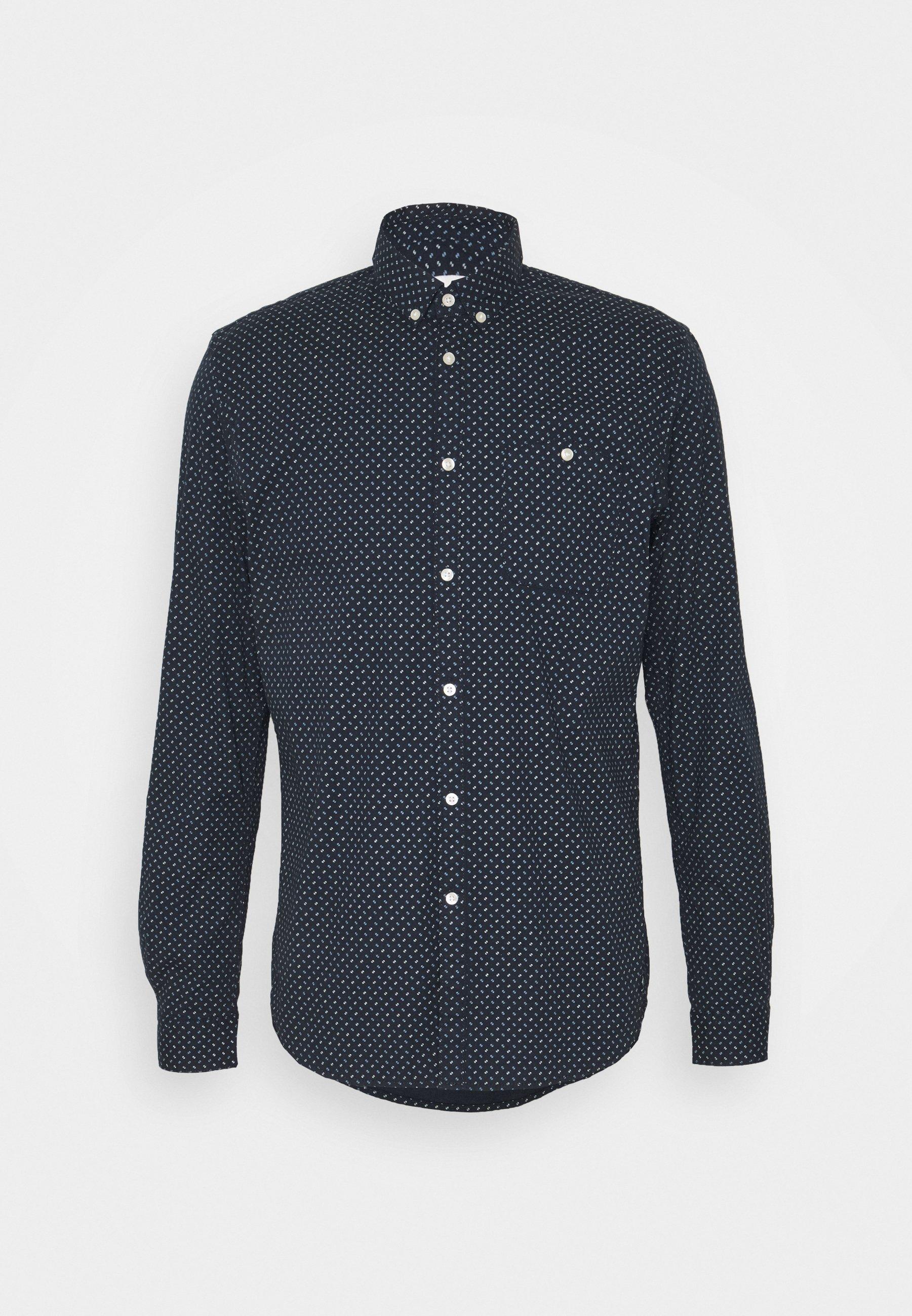 Tom Tailor Denim Allover Printed Stretch Shirt - Hemd White