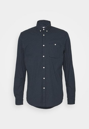 ALLOVER PRINTED STRETCH SHIRT - Skjorta - navy twisted element print