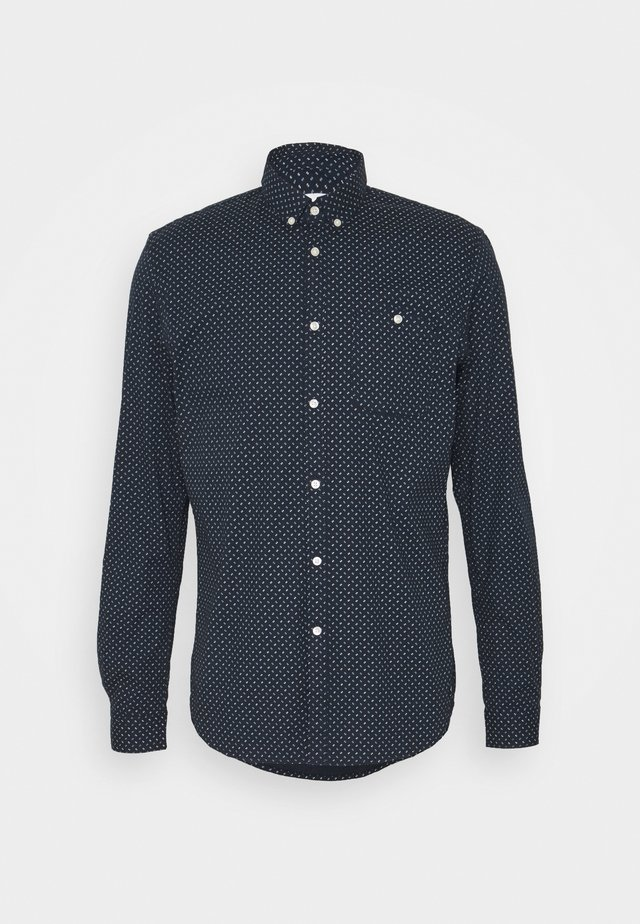 ALLOVER PRINTED STRETCH SHIRT - Koszula - navy twisted element print