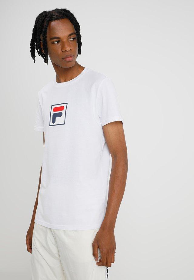 EVAN TEE  - T-shirt imprimé - bright white