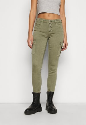 ONLMARYA PINARA LIFE PANT - Cargo trousers - deep lichen green