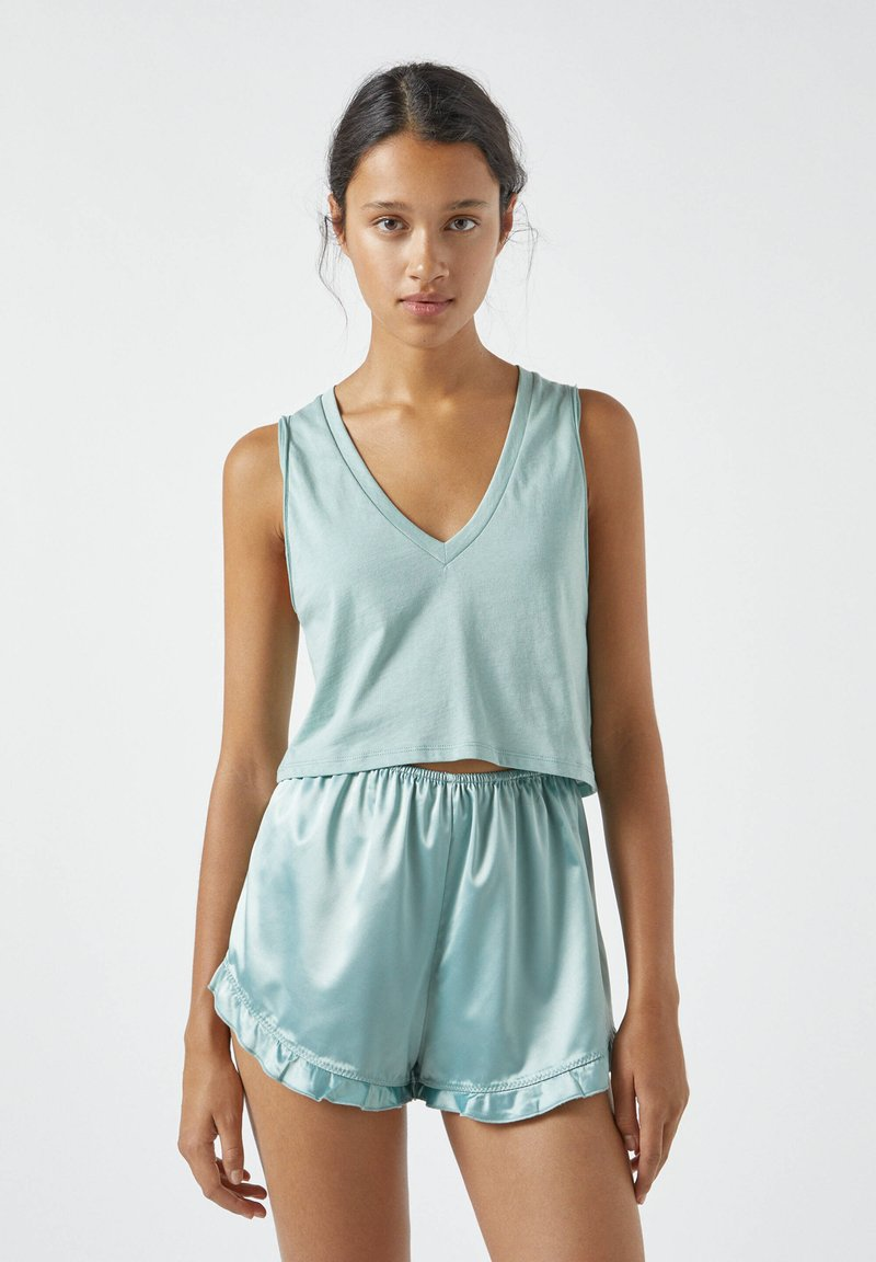 PULL&BEAR - Haut de pyjama - light blue