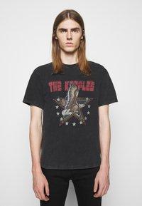 The Kooples - VINTAGE WASHED  - Print T-shirt - black - 0