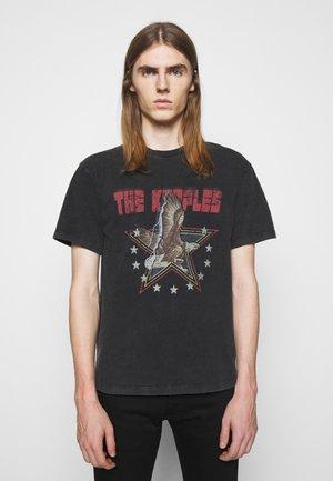 VINTAGE WASHED  - Print T-shirt - black