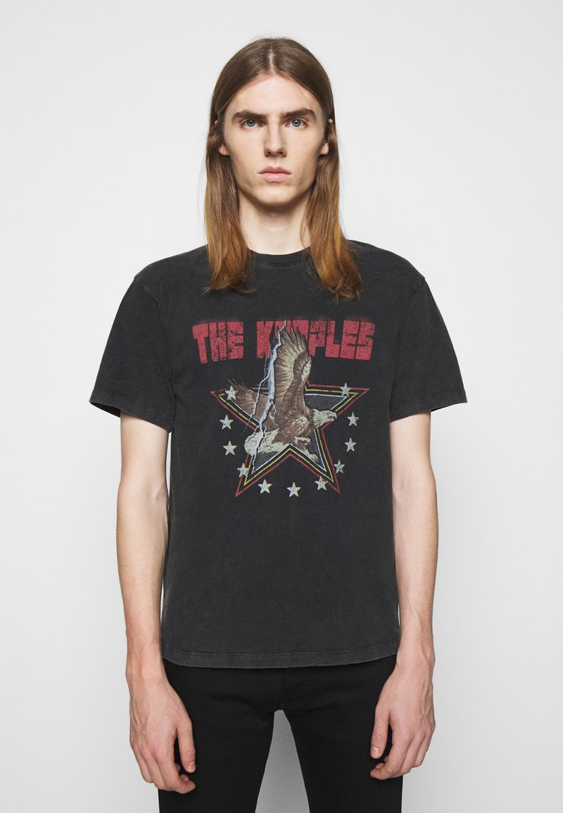 The Kooples - VINTAGE WASHED  - Print T-shirt - black