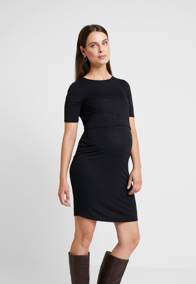 NURSING DOUBLE LAYER  - Vestido ligero - black