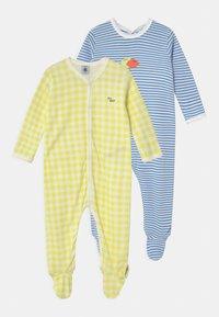 Petit Bateau - DORS BIEN 2 PACK - Sleep suit - white/yellow/blue - 0