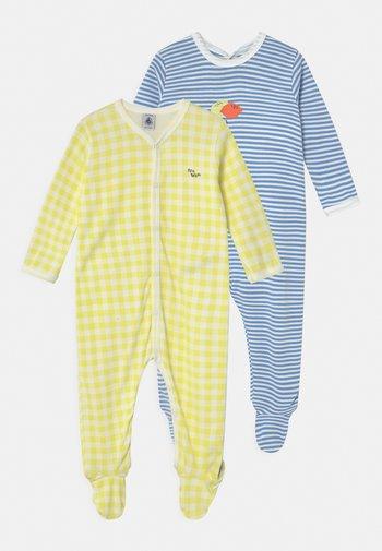 DORS BIEN 2 PACK - Sleep suit - white/yellow/blue